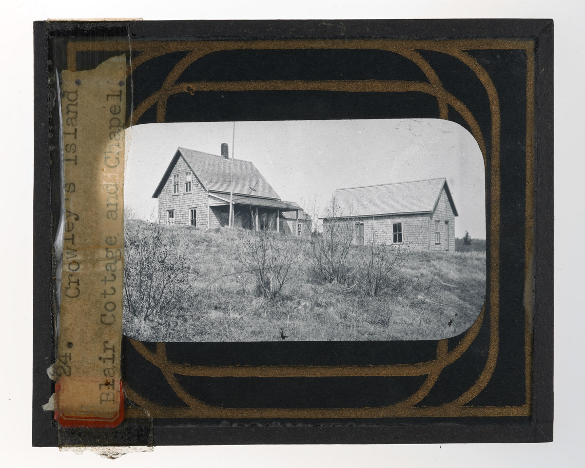 Blair Cottage and Chapel Glass Plate Negative, 1916