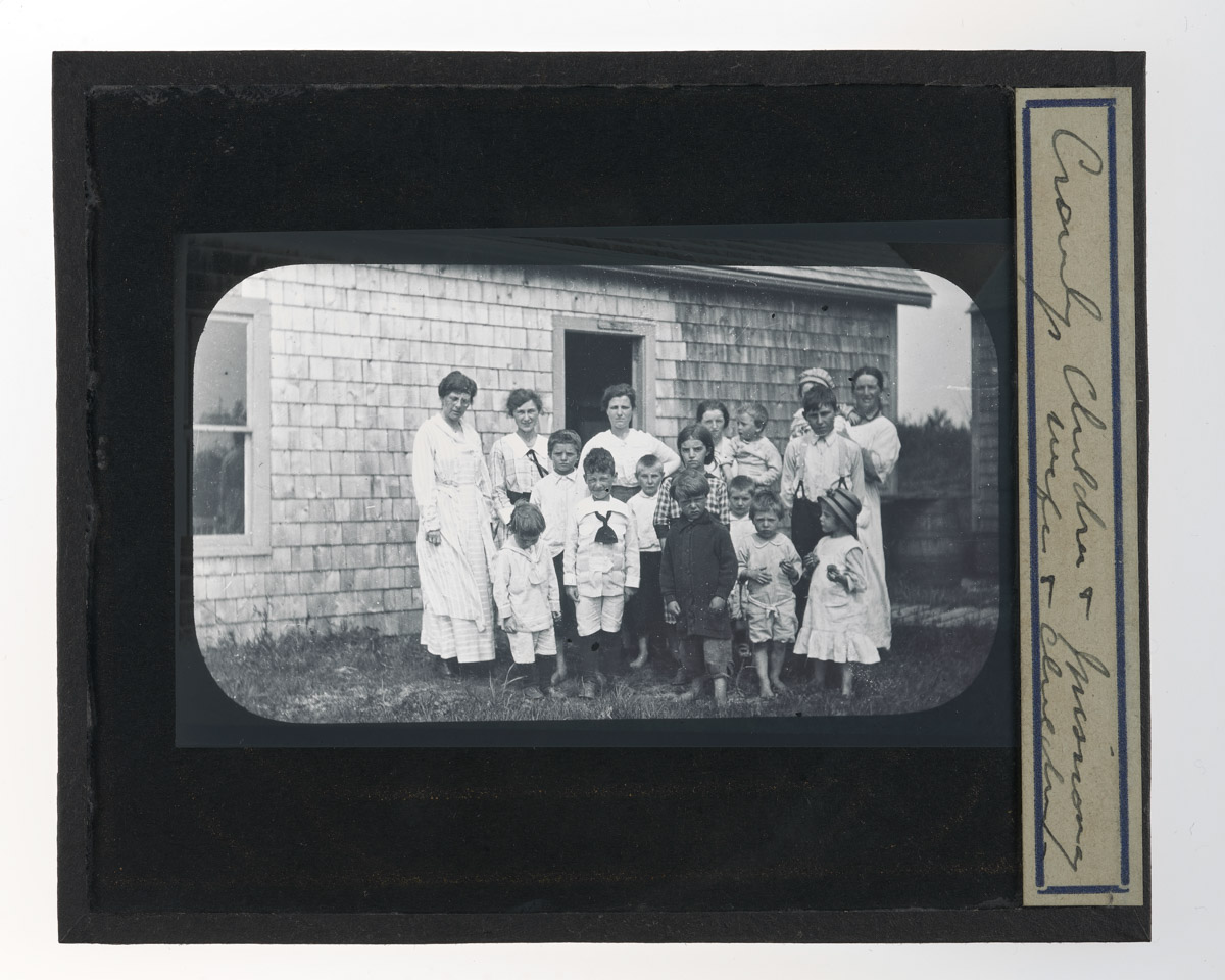 Crowley's Children and Missionary Glass Plate Negative, c. 1920s