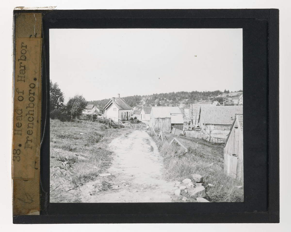 Scenic View of Frenchboro Glass Plate Negative, c. 1920s