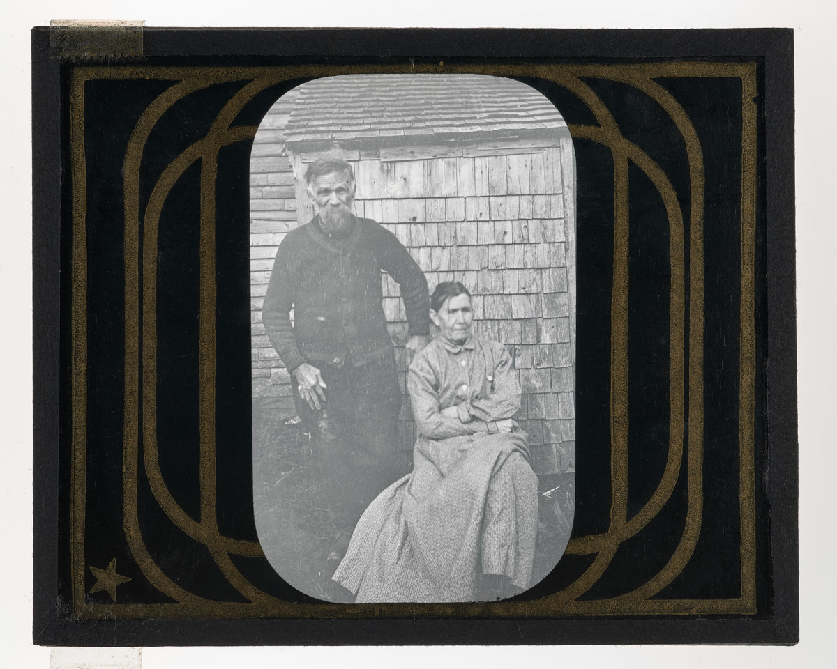 Mr. & Mrs. Hezekiah Lunt Glass Plate Negative, 1911