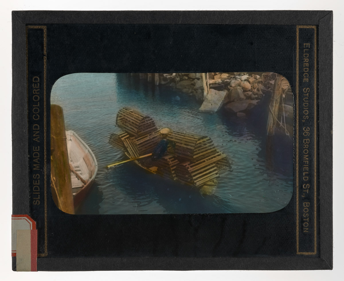 Dory in Loudville with Lobster Traps Glass Plate Negative, 1910