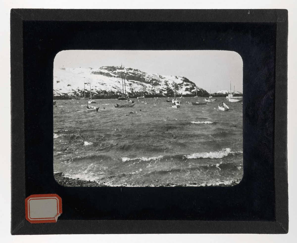 Monhegan Harbor Looking Out to Manana Glass Plate Negative, 1930