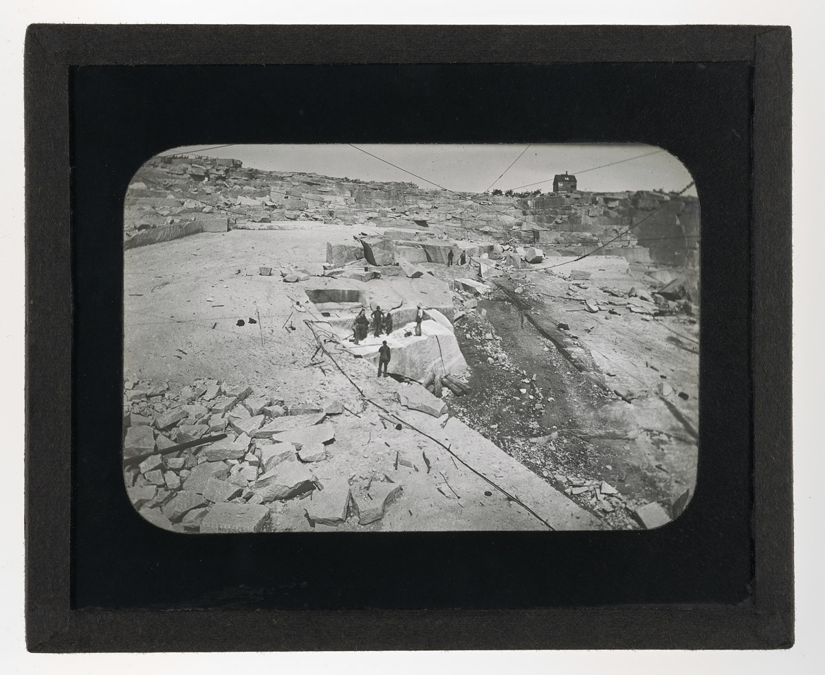 Stonnington Granite Quarry From Above Glass Plate Negative, 1920
