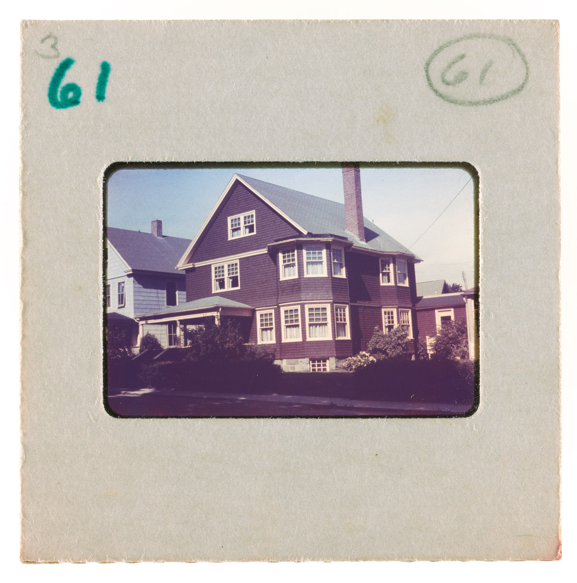 Large Brown House with Porch Slide, 1961-1982