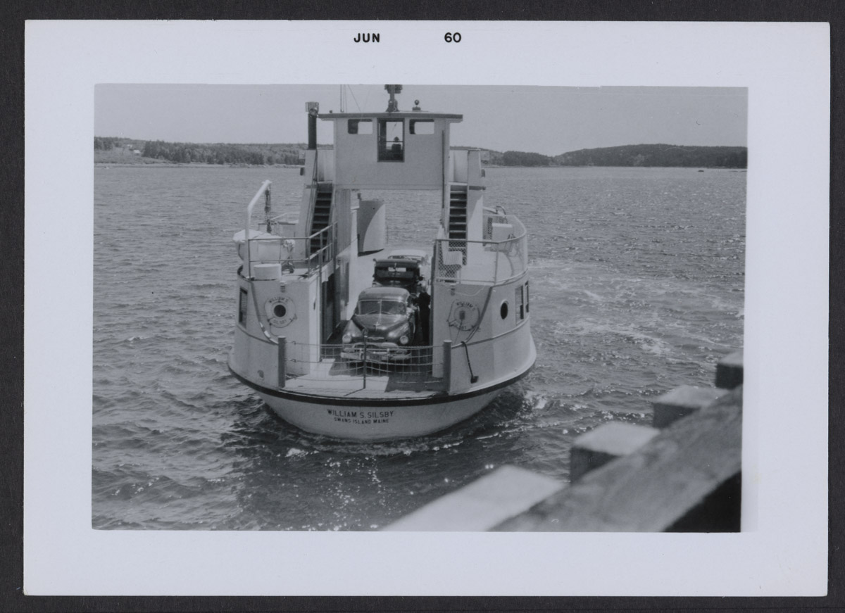 William S. Silsby Ferry to Swans Island Photograph, June 1960