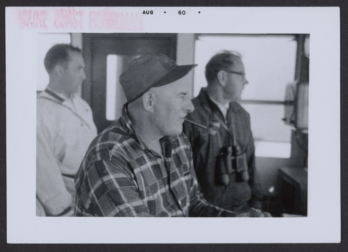 Captain Henry Lee and Two Others on the William S. Silsby Photograph, August 1960