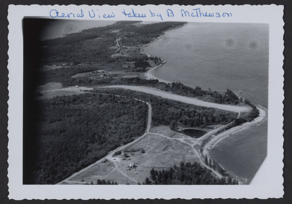Aerial View of Swans Island