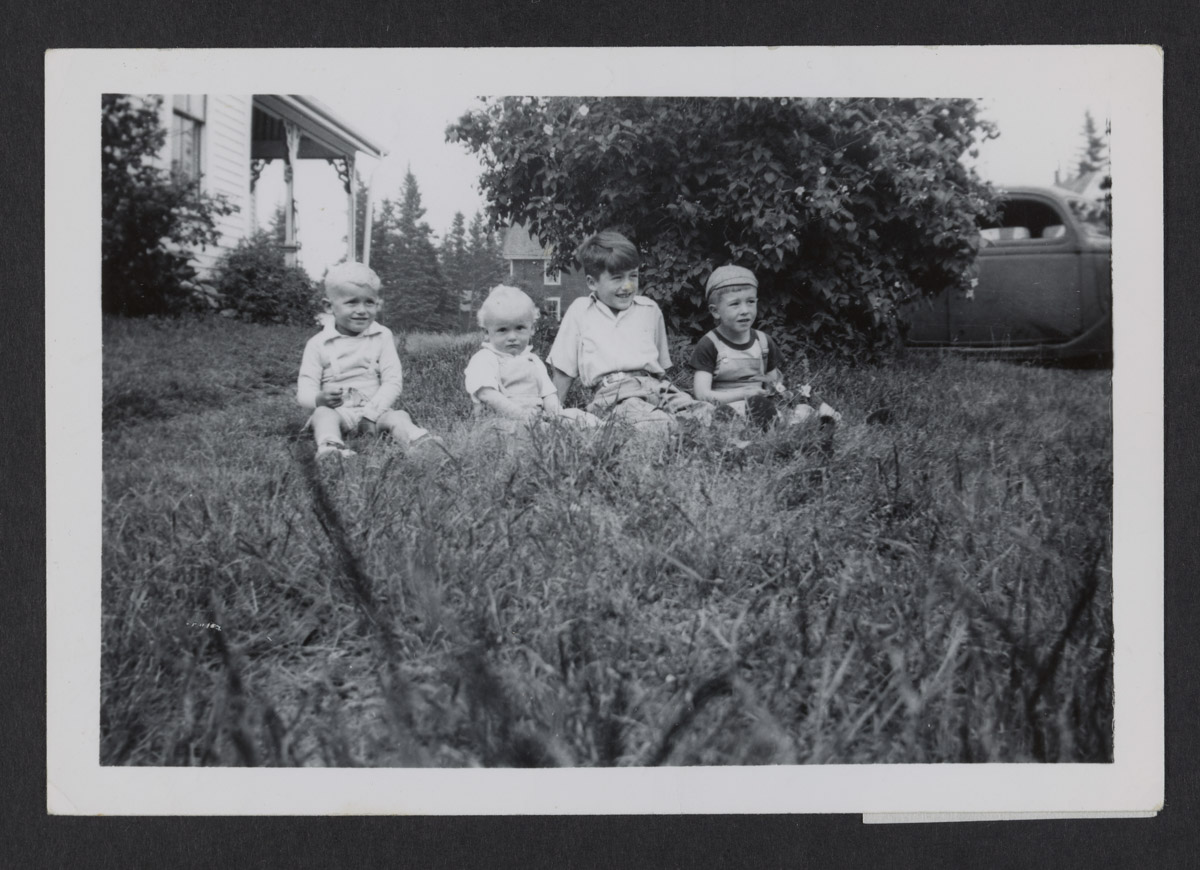 Four Young Staples Boys Photograph