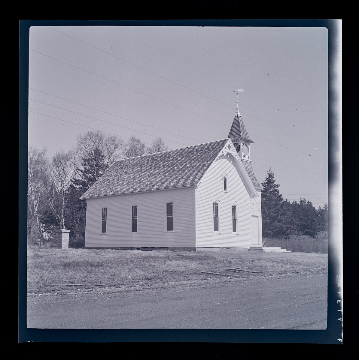 Swans Island Methodist Church Negative, 1960s