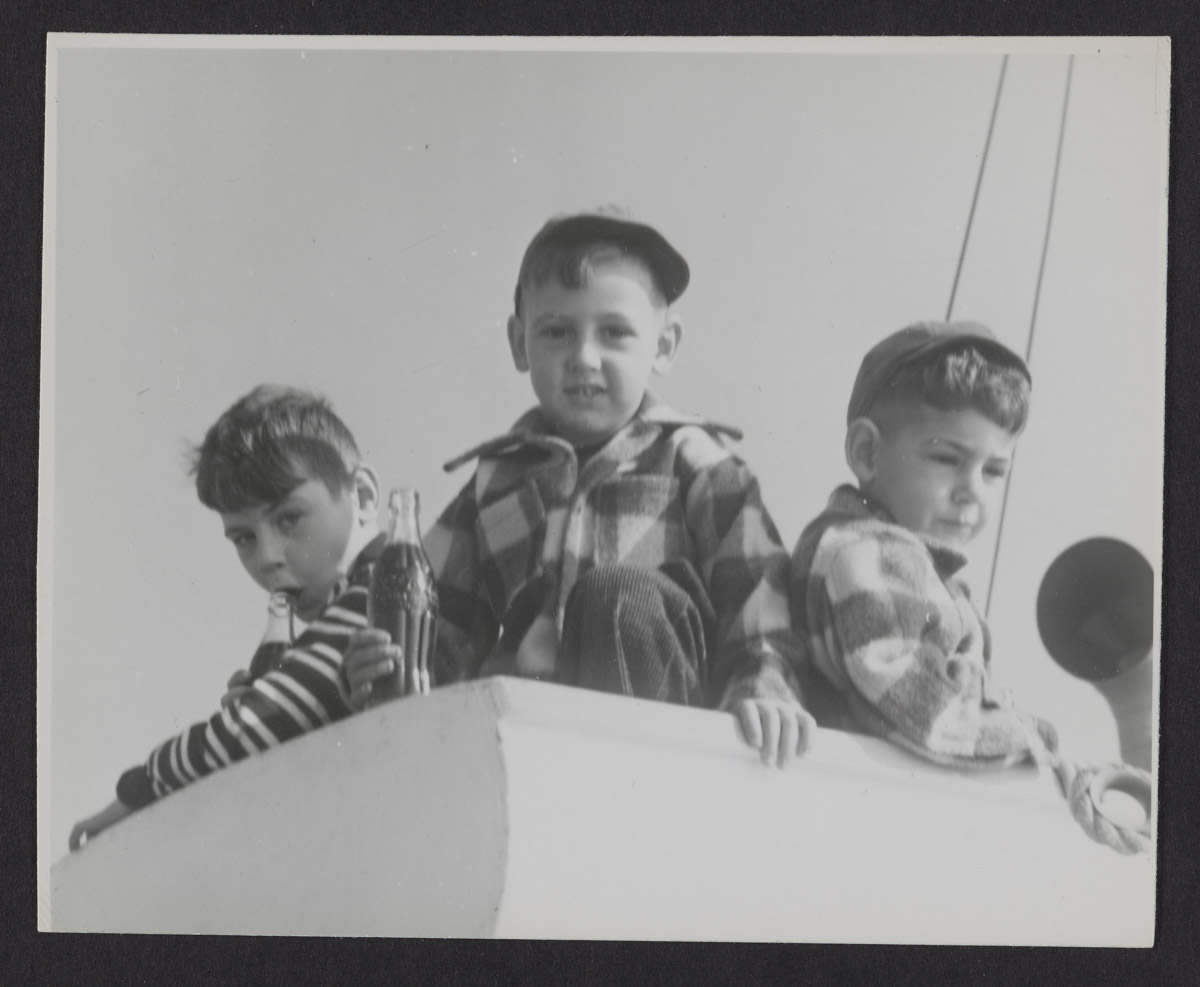 Boys Aboard the Sunbeam III Photograph, 1960s