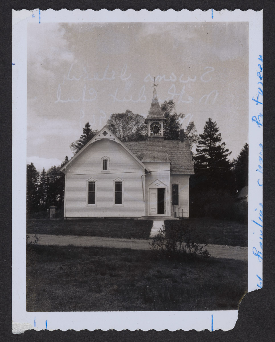 Swans Island Methodist Church Photograph, May 26, 1969